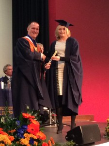 Natalie Barker at her graduation last year. Having now completed a subsequent period of qualifying employment she is a Fellow of CILEX